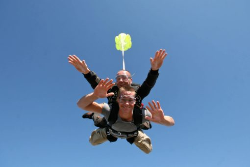 Saut en parachute en Ardèche